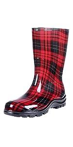 mid calf rain boots