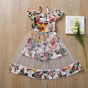 Little kids girl sleevless tutu princess dress summer clothes