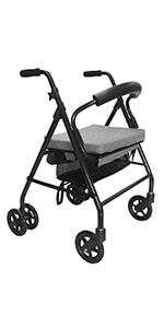 KMINA - Andadores ancianos plegable, Andadores adultos con asiento ...