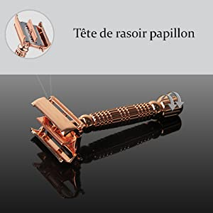 Rasoir - Rasoir coupe choux - rasoir barbe - Rasoir de Sécurité Traditionnel - rasoir de surete