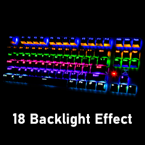mechanical keyboard with white backlight