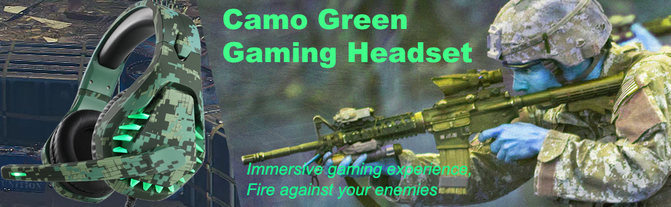 gaming headset Jungle camouflage