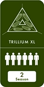 Tentsile trillium xl 6 person tree tent camping hiking hammock flying hanging elevated outdoors