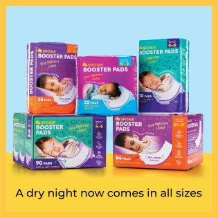 Sposie overnight diapers booster pads size newborn 1 2 3 4 5 6 toddler leaks doublers baby wet