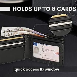 Capacidad para 8 tarjetas.