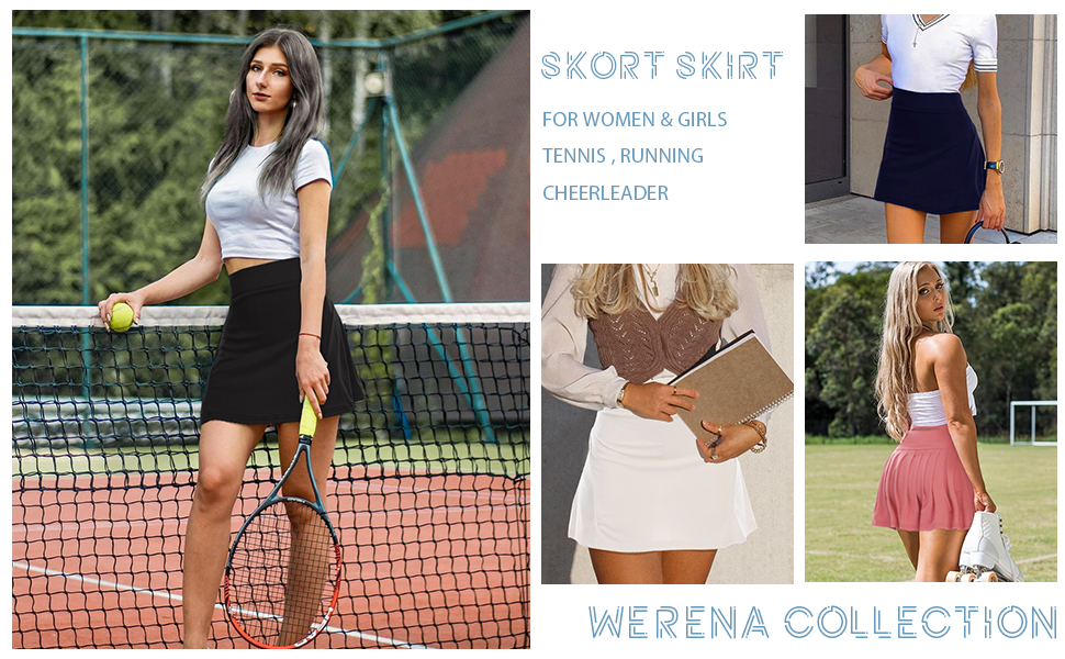 Pleated Tennis Skirts for Women with Pockets Shorts Athletic Golf Skorts Activewear Running Workout