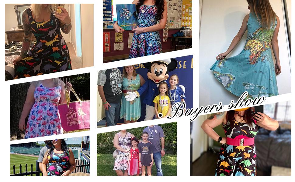 Women's Sleeveless Dress Summer Beach Casual Dress
