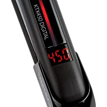 Professional flat iron with digital display