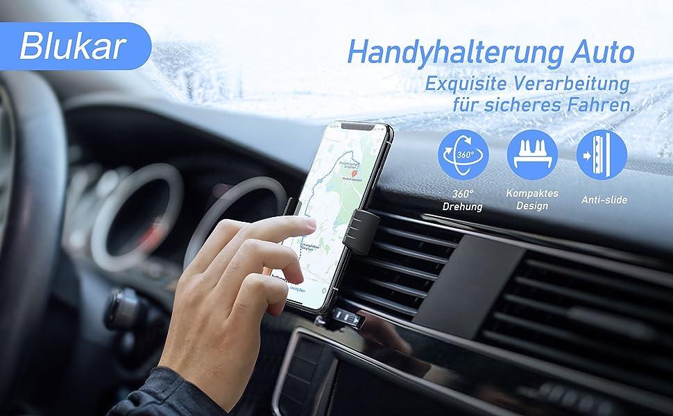 Mobiele telefoonhouder voor de auto.