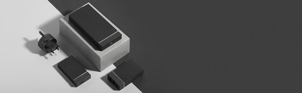 Powerbank power bank 12,000mah charger charging Qi Wireless MULTI DEVICE USB A USB C ports fast