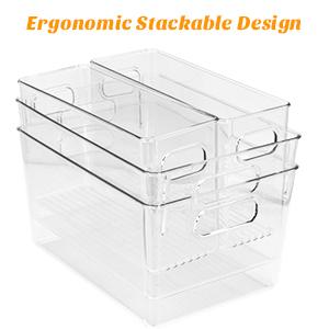 plastic organizer bins