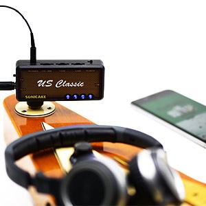 SONICAKE US Classic吉他耳機放大器插件,具有合唱和混響效果以及老式過載音效