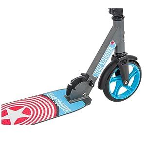 Star-Scooter Patinete Scooter plegable para niños y niñas a partir de 7 años
