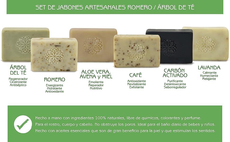 beneficios jabones vitalgreen artesanales aceites esenciales belleza cuidado personal