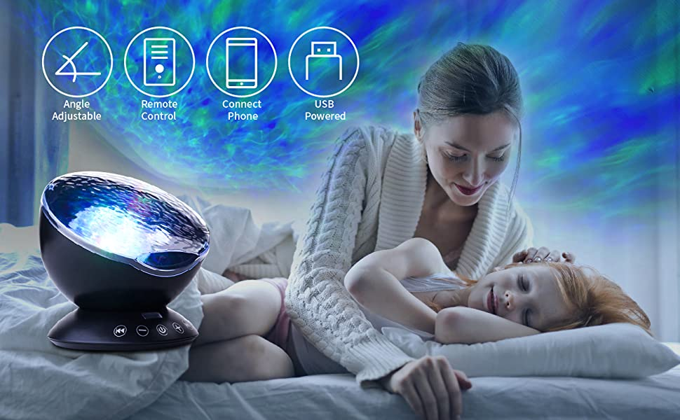 ocean wave project night light for kids