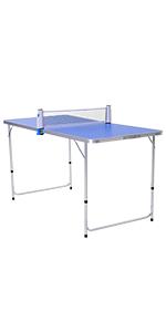 HOMCOM Mesa de Ping Pong Plegable con Red 152.5x274x76cm Tenis de ...