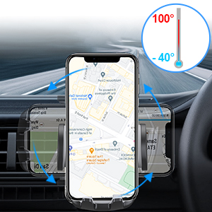 Avolare in car phone mount can help you find the perfect viewing angle with 360-degree rotation.