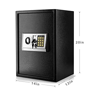 box electronic lock safe house heavy duty lock mini safe keypad lock money safe for adults locking