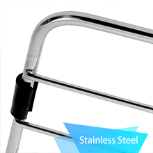 High Quality Stainless Steel: Strong and durable.