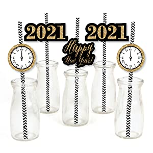2021 New Year Straw Decor