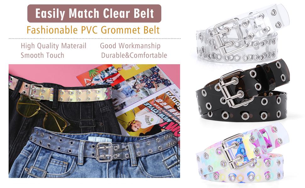 clear double grommet belt