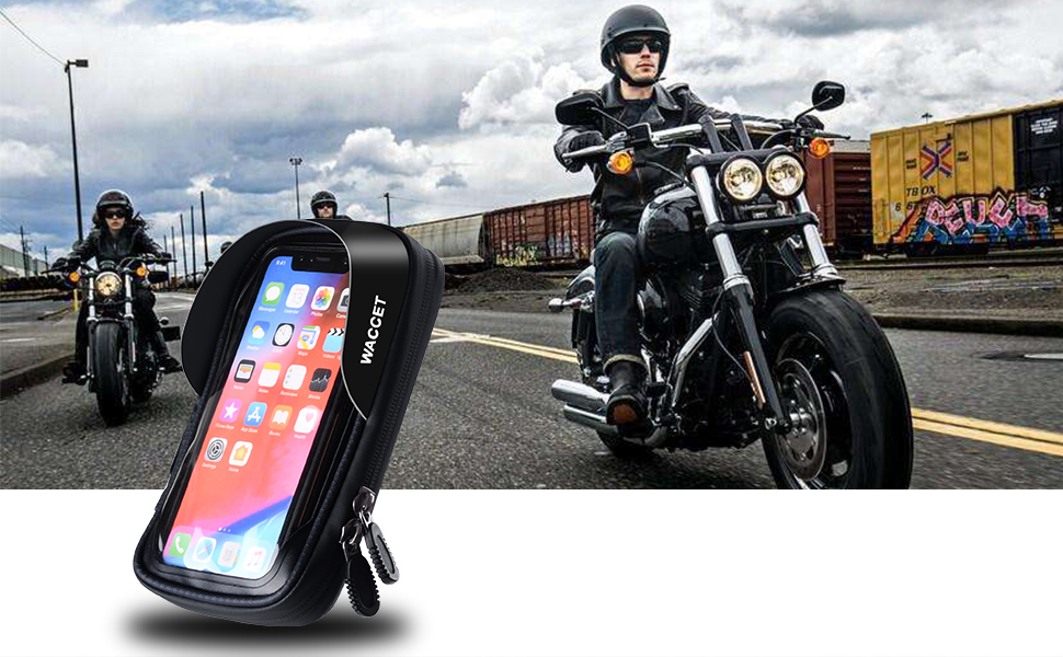 HUANLANG motorcycle phone bag waterproof 360 rotation
