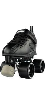 crazy skates zoom roller skate for women men speed rink derby street indoor outdoor black wheels