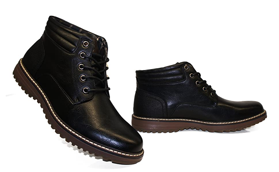 mens tan boots lace up casual formal smart