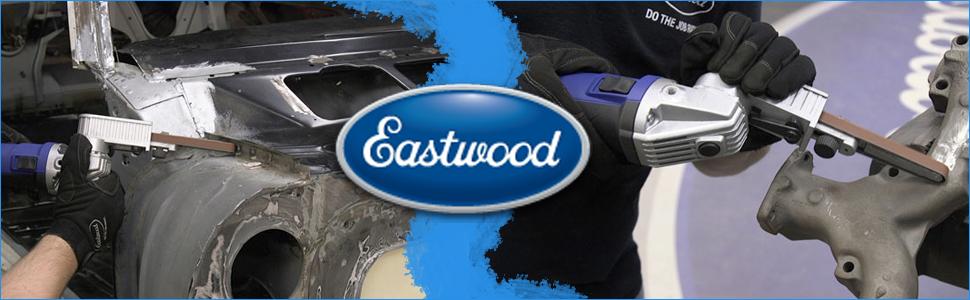 eastwood belt sand blue aluminum steel buff tool help hand power gauge abrasive rotate angle adjust