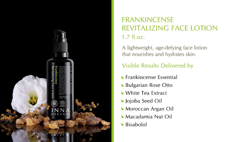 frankincense essential oil face lotion argan macadamia jojoba moisturizer anti aging lightweight