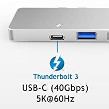 Fast Thunderbolt 3 USB-C Connection