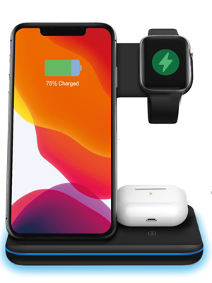 Any Warphone 3 in 1 wireless charging stand for phone, apple watch & Airpods charging.(No Adapter)  Any Warphone 3 in 1 Wireless Charging Stand for Latest Airpods iPhone and iWatch, Compatible for iPhone 11 Pro Max/X/XS Max/8 Apple Watch Charger 5/4/ 3/2 /1 Airpods 2/3 a36a5c8d 853c 4a8b 8e8c 335feb0104ee