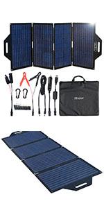 120W 100W foldable solar panel kits