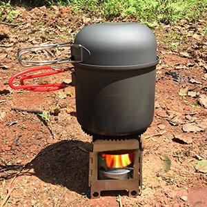 Lixada Hornillo de Alcohol Estufa De Leña Bolsillo Estufa en Acero Inoxidable portátil Peso Ligero Plegable para Cocina al Aire Libre Campamento ...