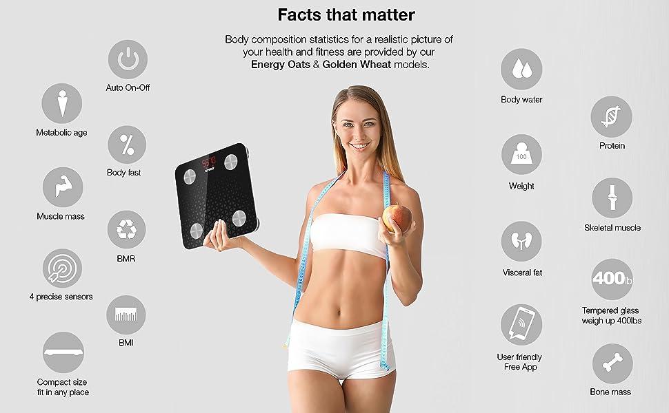 Funcionalidades destacadas ilteco body composition smart scales