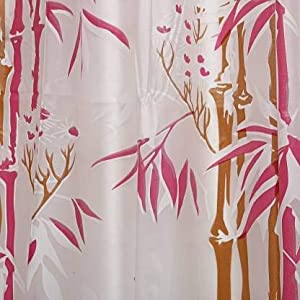 bamboo print shower curtains