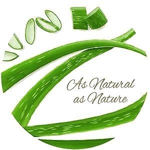 made with aloe vera