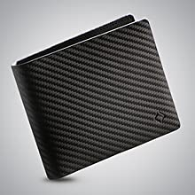 purse rfid leather travel gift cards clips pants front pocket men's carbon fiber gifts