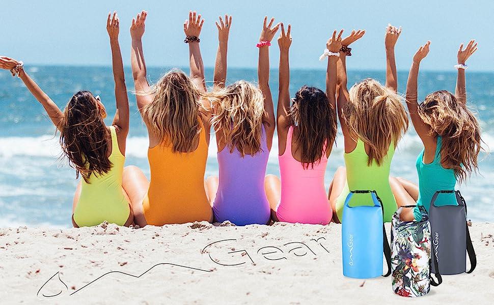 OMGear waterproof dry bag beach backpack