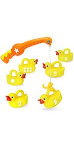 duck fishing rubber ducks bath toys educational bath toys rubber ducks pool toys summer water toys