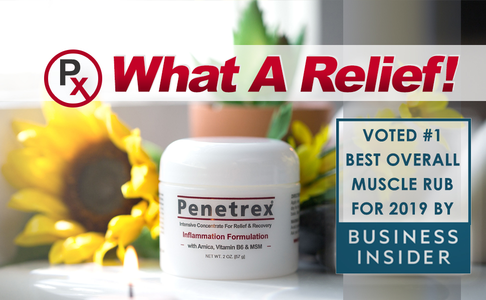 penetrex pain relief therapy cream arthritis bursitis tendonitis carpal tunnel syndrome tennis elbow