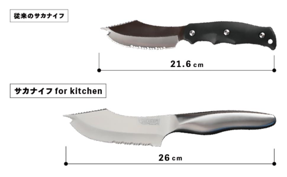 大きくなったサカナイフ