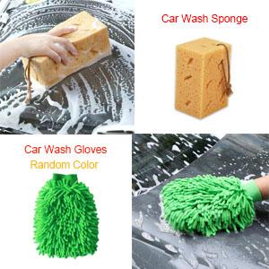 Car Wash Sponge Car Washing Gloves