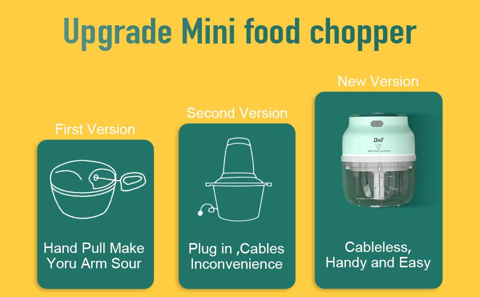 mini chopper garlic chopper electric garlic chopper food chopper food processor