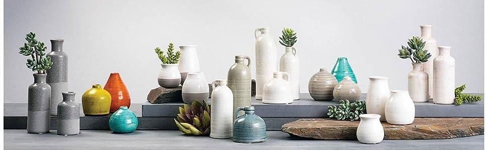 Modern Rustic Vase Set - Living Room