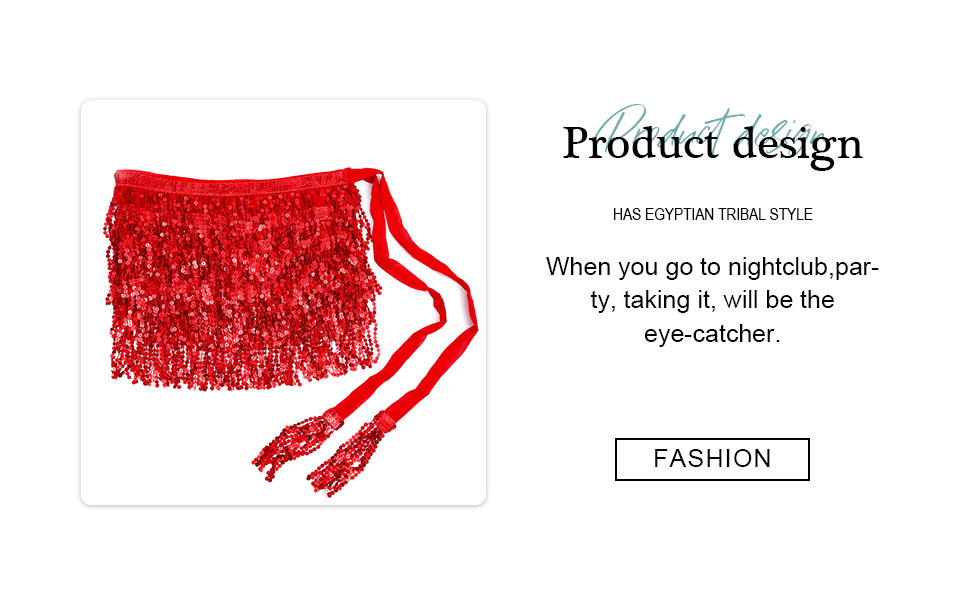 red sequin skirt