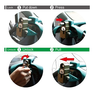 Steering wheel lock operation