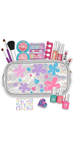 18 Pieces Pretend Makeup Deluxe Kit