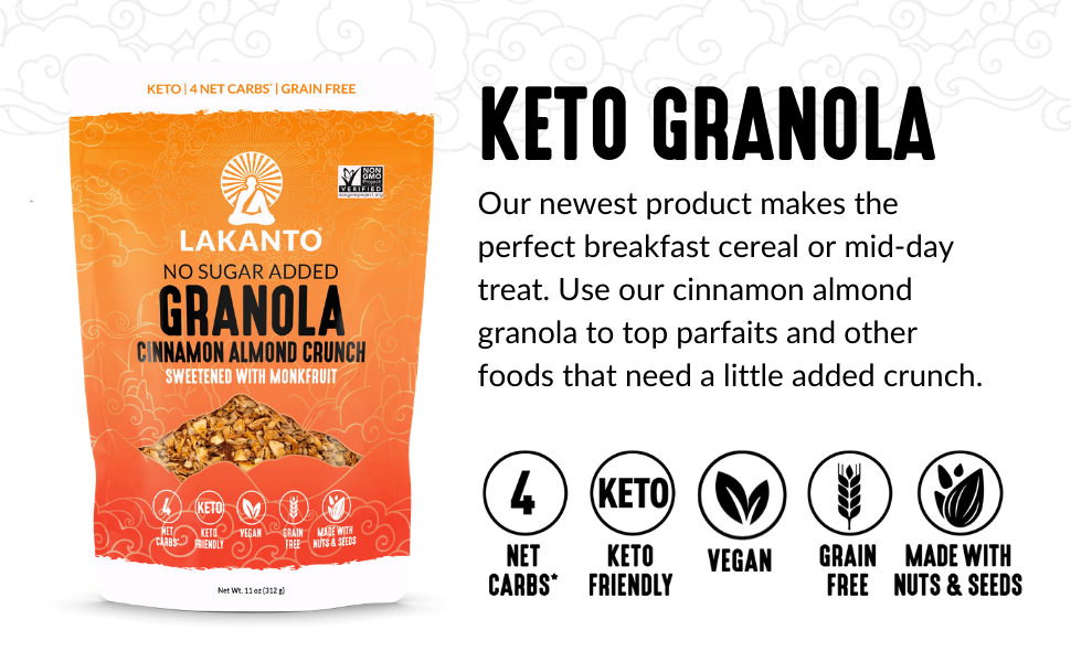 granola, keto, grain free, sugar free, breakfast food, cereal