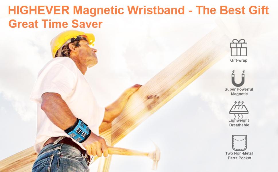 pour Les Vis De Maintien 2020 Calendrier De Lavent Cadeaux Noel Homme Bricolage Bracelet Magnetique Cadeau Homme Clous noir Tr/épans de Forage Bracelet Magn/étique R/églable avec 15 Aimants